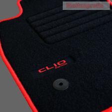 Velours Fußmatten 4-teilig Logo Edition rot für Renault Clio IV ab Bj.11/2012 -