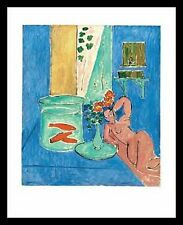 Henri Matisse Poissons rouges et sculpture Poster Bild Kunstdruck im Alu Rahmen