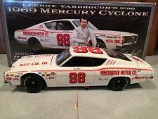 Autographed University of Racing 1969 Leeroy Yarbrough #98 Mercury Cyclone 1/24