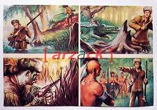 Album LONTANO WEST 1 DARDO 1962 - 4 figurine 55 56 57 58