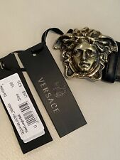 Versace Mens Medusa Palazzo Leather Belt NWT $525