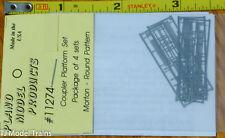Plano HO #11274 Coupler Platform Set (Package of 4 Sets) Morton- Round Pattern
