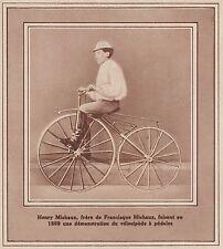 G1969 Vélocipède à pédales - Stampa d'epoca - 1936 vintage print