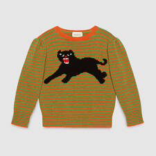 GUCCI GIRLS WOOL SWEATER WITH PANTHER 5 YEARS