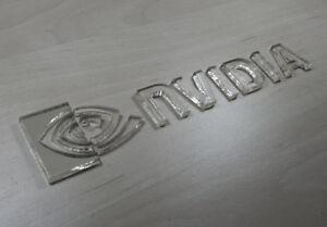 nVidia - 3D Emblem Sticker Badge - 145mm / 30mm - self adhesive