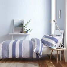 Catherine Lansfield Newquay Stripe Blue Duvet Cover Set Double