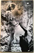Brand New 1998 Original Apple Think Different Poster Jane Goodall Size 11 x 17