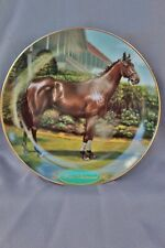 Danbury Mint Legendary Racehorses War Admiral by Susie Morton Plate # A1575