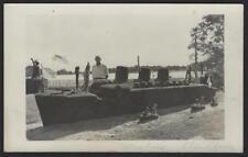 Gus Yearicks Statue of Liberty Queen Mary Topiary Fishing Creek NJ  RPPC 1950