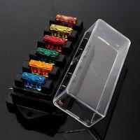 6 Way Circuit Automotive Middle-sized Blade Standard Fuse Box Block Holder UK