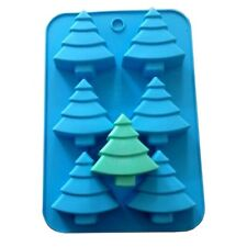 6 Christmas Tree Silicone Soap Mold Fimo Fimo Resin Clay Craft Art DIY Cake Mold