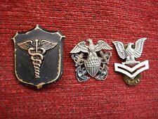 3 VINTAGE U.S. NAVY PINS - HAVE A LOOK