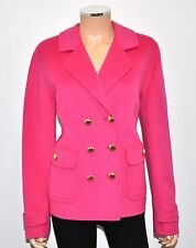 ST. JOHN BLACK LABEL Fuchsia Pink Double Breasted Sewn By Hand Coat Jacket - 10