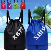 Men Women Fashion Sport String Bag Drawstring Bag Gym Pack Sackpack Backpack SH