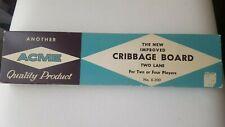 Acme Cribbage Board No. X-300 - Vintage Board Games