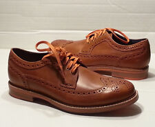 Cole Haan Men size 7 Brown Leather Shoes C11076 Longwing Brogues Wing Tip