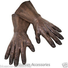 A553 Star Wars Chewbacca Hands Deluxe Mens Adult Latex Costume Gloves