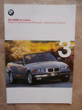 BMW 318i 320i 328i E36 Cabrio +Individual Brochure Katalog Prospekt 3/1999
