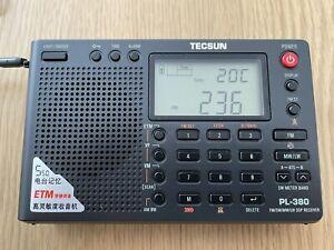 TECSUN PL-380 DSP WORLD BAND RADIO PL380 Radio - Black
