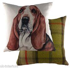 "17"" Bassett Hound Dog Cushion Evans Lichfield DPA266 43cm Waggydogz"