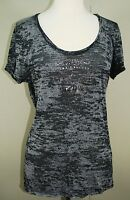 Big Star Jeans - Tee By Big Star - Women's Black Burn-Out T-Shirt - Size Large