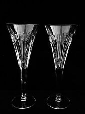 "2 BRILLIANT WATERFORD CRYSTAL MILLENNIUM ""LOVE"" TOASTING CHAMPAGNE FLUTES"