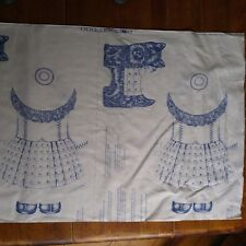 Vintage Bolt of Fabric ~ Heather And Scotty Cranston ~ Blue & White Pattern