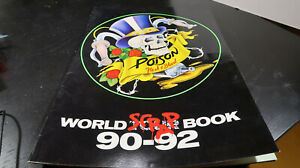 Poison Scrap World Tour 1990 1992 Program Hair Band