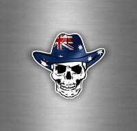 Sticker aufkleber auto moto helm schädel totenkopf skull flagge australien
