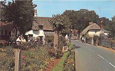 B89150 the old world tea gardens village godshill i o w uk  14x9cm