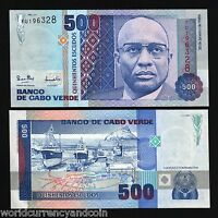 CAPE VERDE 500 ESCUDOS P-59 1989 SHIP UNC AFRICA CURRENCY MONEY BILL BANK NOTE