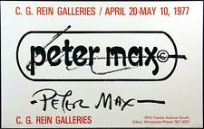 Peter Max Vintage Lithograph Gallery Poster from 1977 Art Show Submit Offer