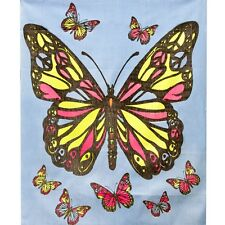 Peace Butterfly Blacklight Tapestry