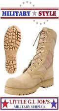 "Jungle Boots 10"" Desert Tan G.I Style Military Sierra Lug Sole Combat Boots 5257"