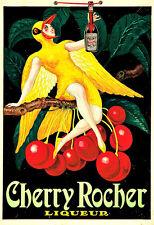 CHERRY ROCHER liqueur boisson alcool BOISSONS PUB BAR Chic Deco Poster Print