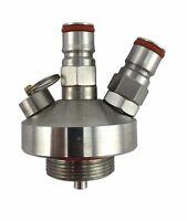 NEW 304 Stainless Steel Mini Keg Tap Dispenser for Craft Beer Growler Homebrew