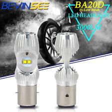 2x BA20D H6 S1 S2 LED Motorcycle Headlight Lamps Hi/Low Beam White Bulbs 6000K