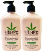 Hempz BLUSHING GRAPEFRUIT and RASPBERRY Creme Moisturizer Lotion 17 oz - LOT 2