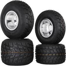 Go Kart Wheels Go Kart Rain Tires Set of 4 Rim & Tyre Set 3 holes Buggy