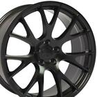20x9 Satin Black Wheels SET Fits Challenger Hellcat Dodge Charger 300C