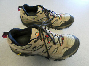 Merrell tan leather and mesh, waterproof, hiking shoes. Men's 11.5