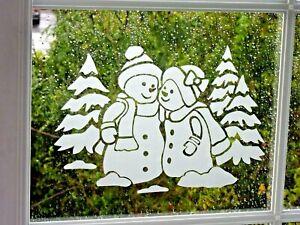 XMAS SNOWMEN STICKER, CHRISTMAS DECORATION, WINDOWS, DOORS & MIRRORS.