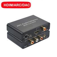 DAC converter HDMI ARC AUDIO return HDMI Audio Extractor Channel Optical Fiber