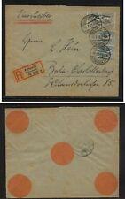 Upper  Silesia  20 (2), 24  Kattoqitz registered cover  1921         EX1105