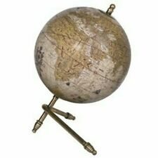 🌍 Decorative Globe with Support Bars Gold. Educational World Map. Home Decor.