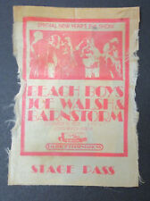 The Beach Boys Long Beach Arena 1973 Concert (Back)Stage Pass (used) Joe Walsh