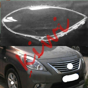 1*PcsRight Side Headlight Cover Clear PC With Glue Replace For Nissan Versa 2012