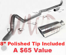 """4""""Turbo Back Exhaust System + 8""""Tip 03-07 Ford Powerstroke F250 F350 6.0L Diesel"""