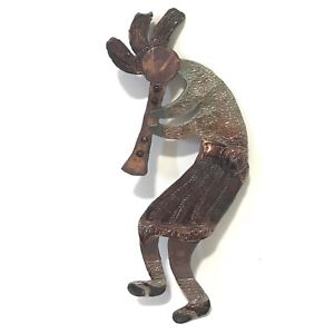 Kokopelli Wall Decor Figure Copper Indoor Humpbacked Art Clay Deity Tribal Flute
