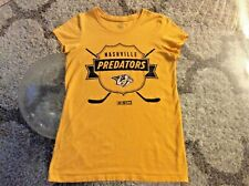 Nashville Predators Yellow Short Sleeve Shirt Ladies Women Small Petite Slim